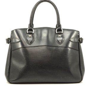 Auth Louis Vuitton Passy Noir Epi Black #2640L19